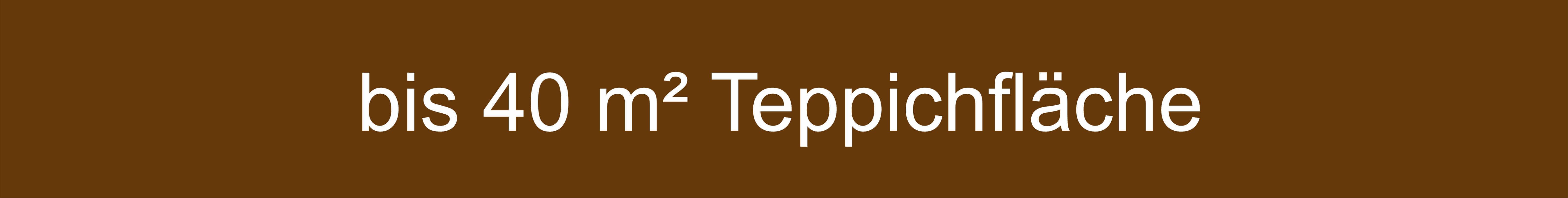 Mengenempfehlung Teppich bis 40 Quadratmeter